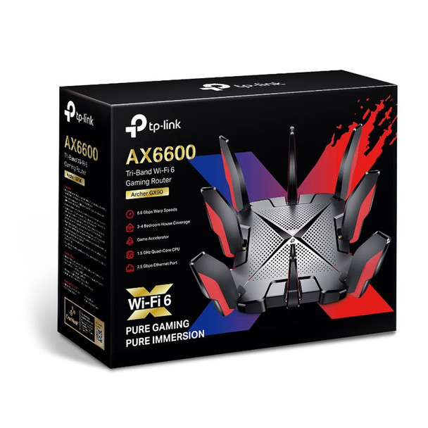 TP-Link Archer GX90 AX6600 802.11ax Tri-Band Wi-Fi 6 Gaming Router Product Image 4