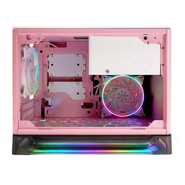 In Win A1 Prime Tempered Glass Mini Tower Mini-ITX Case with 750W PSU - Pink Product Image 3