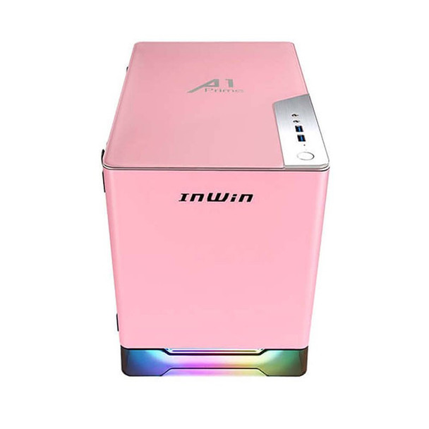 In Win A1 Prime Tempered Glass Mini Tower Mini-ITX Case with 750W PSU - Pink Product Image 5