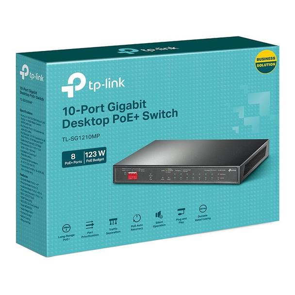TP-Link TL-SG1210MP 10-Port Gigabit Fanless Easy Smart Switch with 8-Port PoE+ Product Image 4