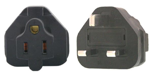 Product image for US 3 Pin to UK 3 Pin Plug Adapter   AusPCMarket Australia