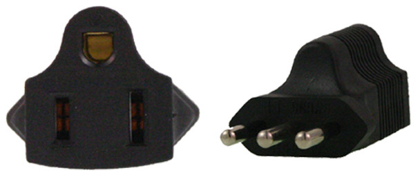 Product image for US 3 Pin to Italy 3 Pin Plug Adapter | AusPCMarket Australia