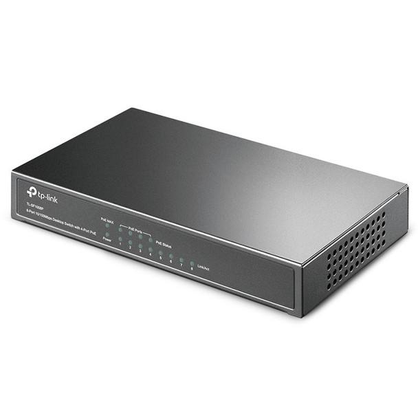 TP-Link 8 Port 10/100M PoE Switch, 8 10/100 RJ45 Ports Including 4 PoE Product Image 3