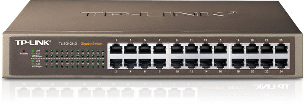 Product image for TP-Link 24 Port Gigabit Rackmount Switch 13-in Case no brackets   AusPCMarket Australia