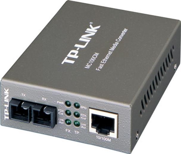 TP-Link 10/100M RJ45 to 100M multi-mode SC fiber Converter, Full-dup