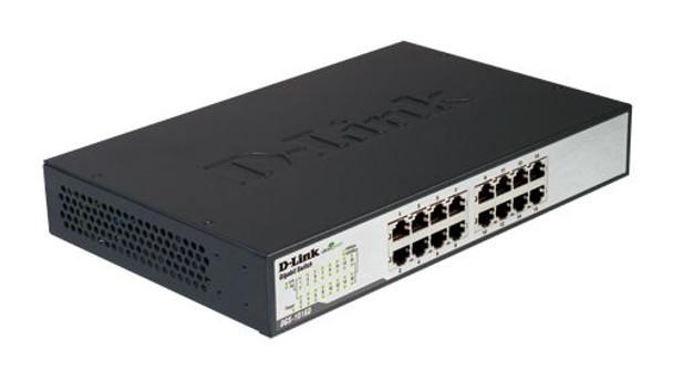 D-Link DGS-1016D 16-Port Gigabit Unmanaged Switch - Durable Metal Housing Product Image 2