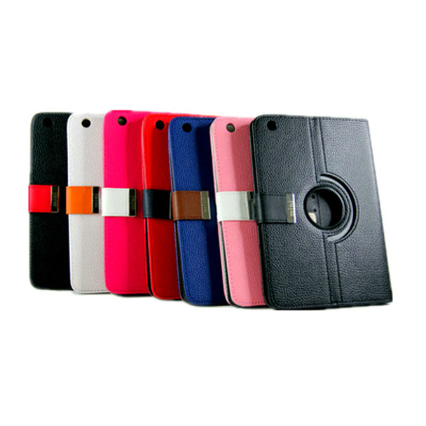 Product image for 360 Rotational Leather Carry Case With Magnetic Flip for Mini iPad BK   AusPCMarket Australia