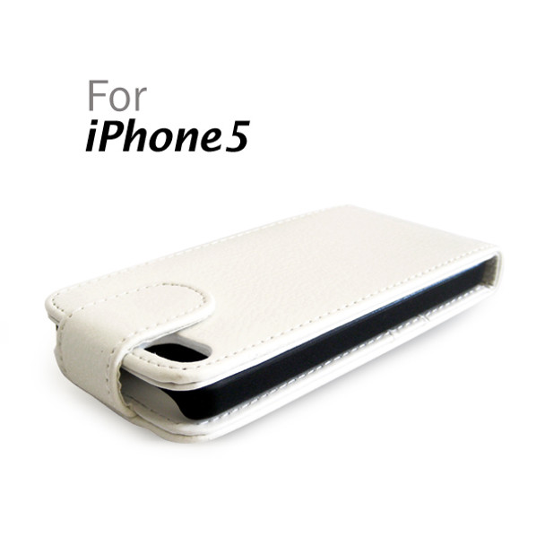 Product image for Verticle Leather Hard Case with Card Slot for iPhone 5 (Black White) | AusPCMarket Australia