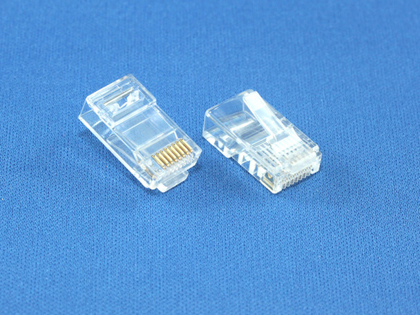 Product image for RJ-45 8P8C Connector For Cat5E Soild Cable | AusPCMarket Australia