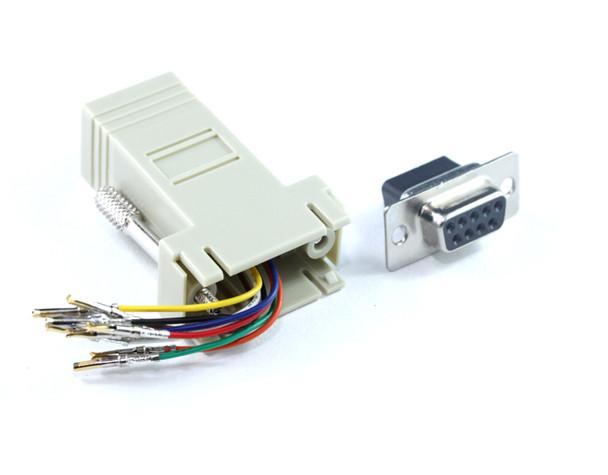 Product image for DB9F To RJ45 F Adaptor   AusPCMarket Australia