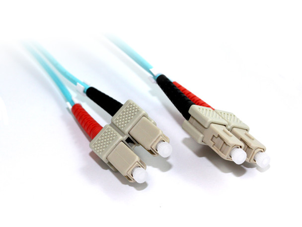 Product image for 15M SC-SC OM3 10GB Multimode Duplex Fibre Optic Cable | AusPCMarket Australia