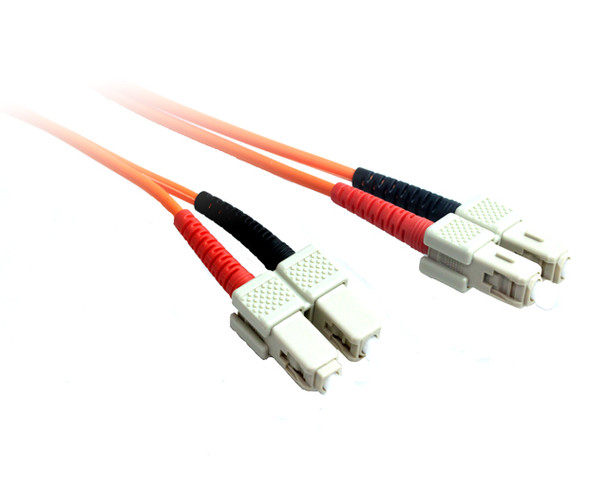 Product image for 50M SC-SC OM1 Multimode Duplex Fibre Optic Cable | AusPCMarket.com.au