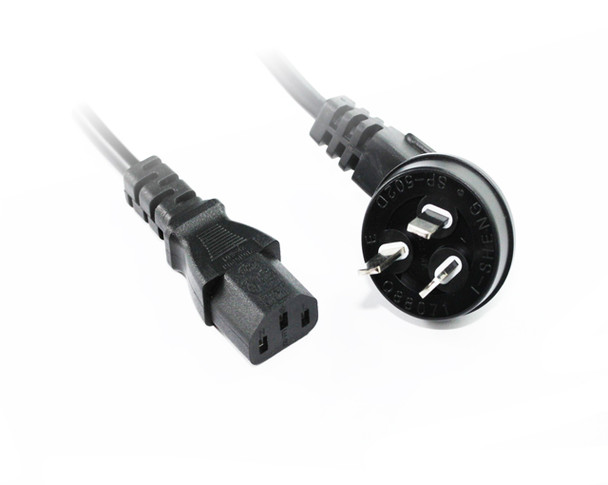 Product image for 5M Right Angle Plug To C13 Power Cable | AusPCMarket Australia
