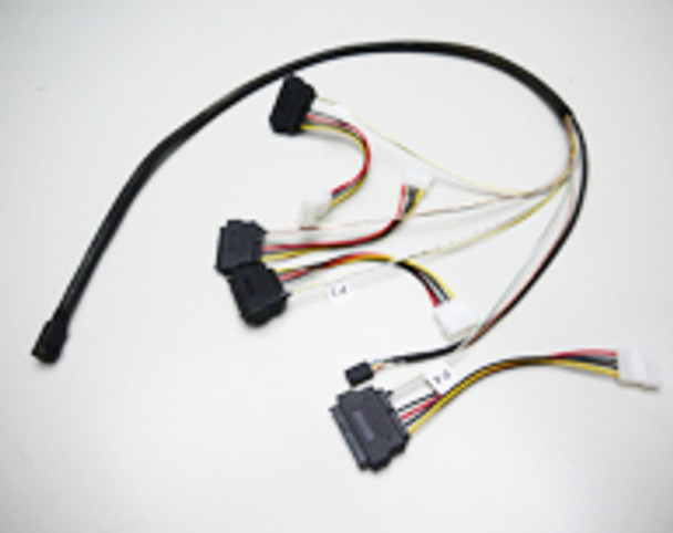 Product image for 50CM Internal Mini SAS HD to 4xSAS29 And Power Cable | AusPCMarket Australia