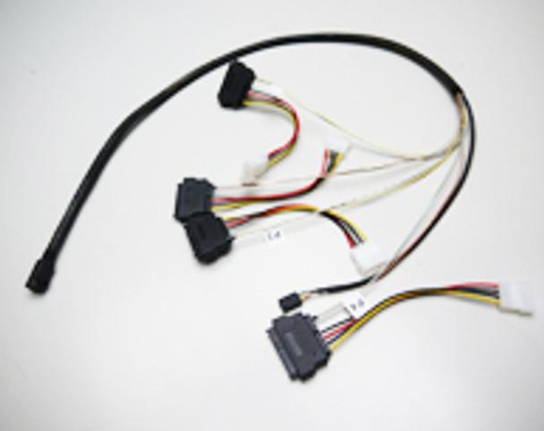 Image for 1M Internal Mini SAS HD to 4xSAS29 And Power Cable