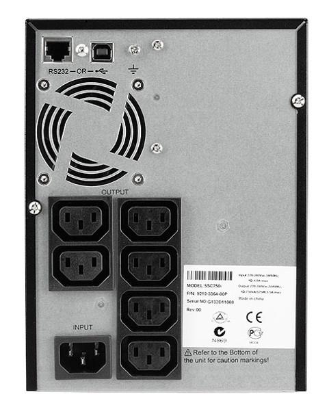 Eaton 5SC750i Powerware 5SC 750VA/525W Line Interactive Sine Wave Mini Tower UPS Product Image 2