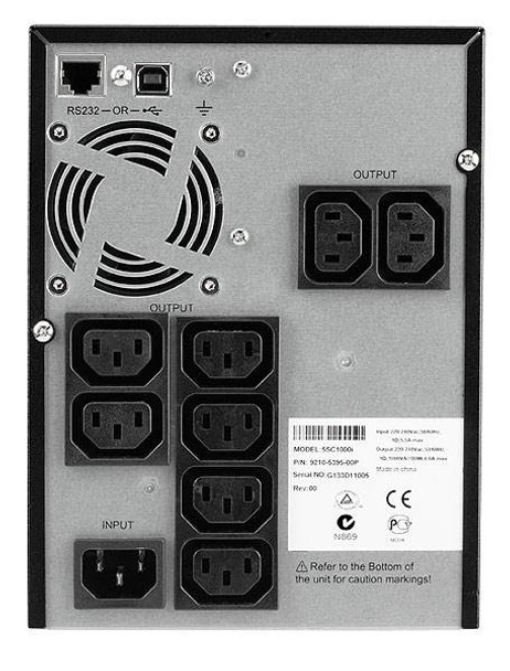 Eaton 5SC 1000VA/700W Line Interactive Sine Wave Mini Tower UPS 5SC1000i Product Image 2