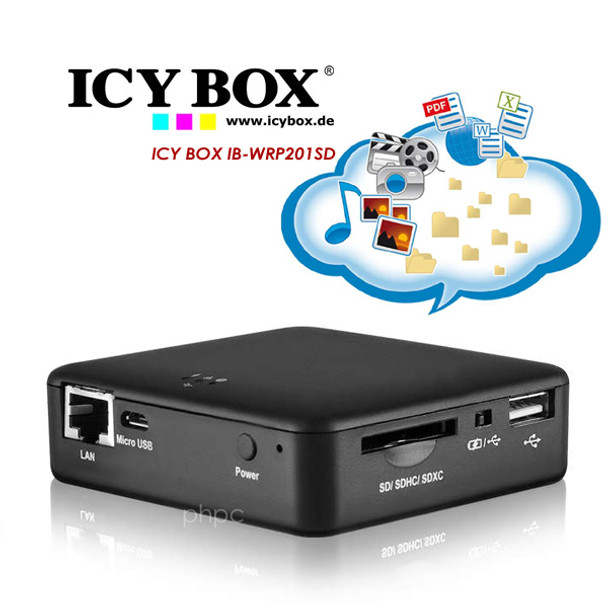 Product image for ICY BOX IB-WRP201SD WiFi Station Access Point   AusPCMarket Australia