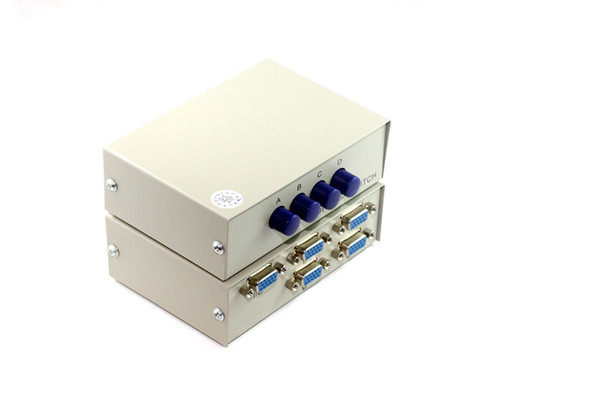 Product image for 4 Way SVGA Push-Button Data Switch   AusPCMarket Australia