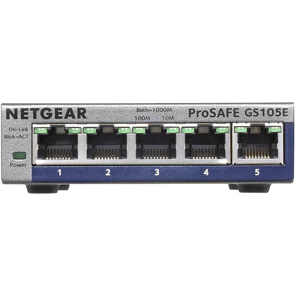 Netgear GS105E ProSafe Plus 5-port Gigabit Ethernet Switch Product Image 2