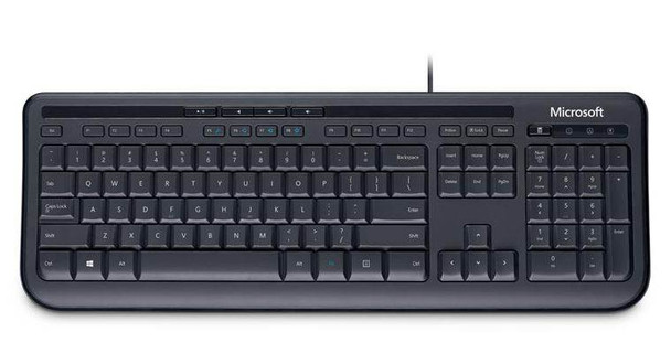 Product image for Microsoft Wired Keyboard 600 - Black | AusPCMarket Australia