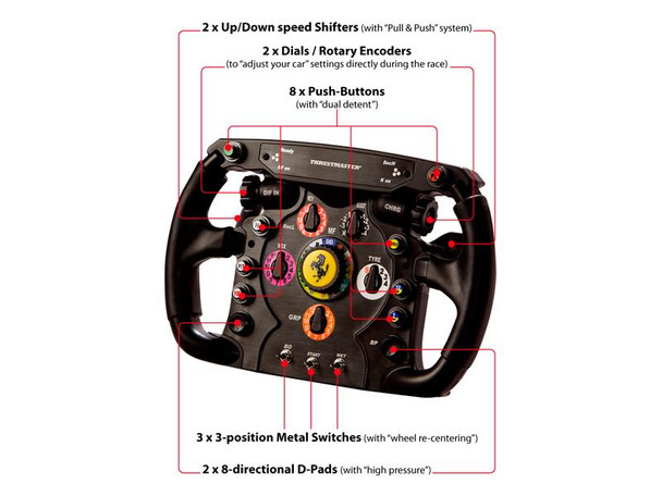 Thrustmaster Ferrari F1 Wheel Add On For PC, PS3, PS4 & Xbox One Product Image 3