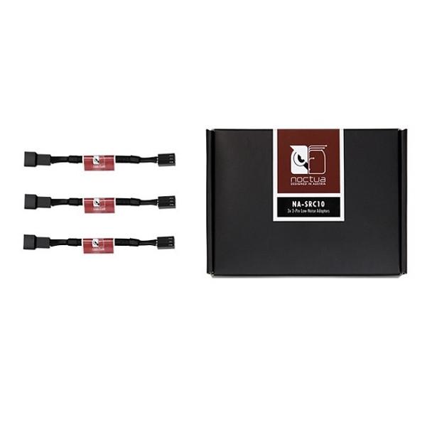 Product image for Black NA-SRC10 11cm 3Pin Fan Low Noise Adapter Cables (3 Pack) | AusPCMarket Australia