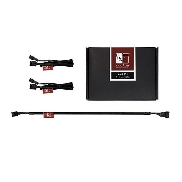 Product image for Black NA-SEC1 30cm 4Pin PWM Power Extension Cables (3 Pack) | AusPCMarket Australia