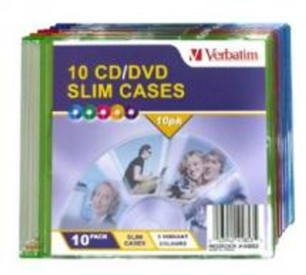 Product image for Verbatim Slim CD/DVD Case 10pk 41853   AusPCMarket Australia