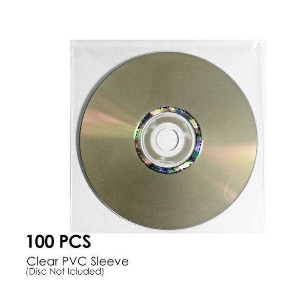 Product image for CD-DVD Clear PVC Sleeve Hold 1 Disc (100PCS/Pack) | AusPCMarket Australia