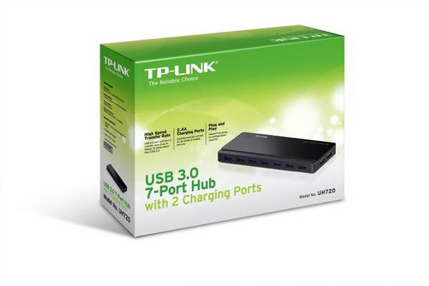 TP-Link UH720 USB 3.0 7-Port Hub with 2 Charging Ports Product Image 3