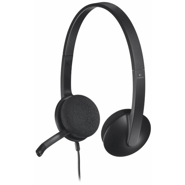 Product image for Logitech H340 USB Headset Black   AusPCMarket Australia