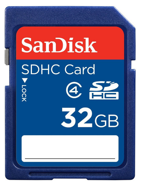 Product image for SanDisk 32GB SDHC Memory Card - Class 4 | AusPCMarket Australia