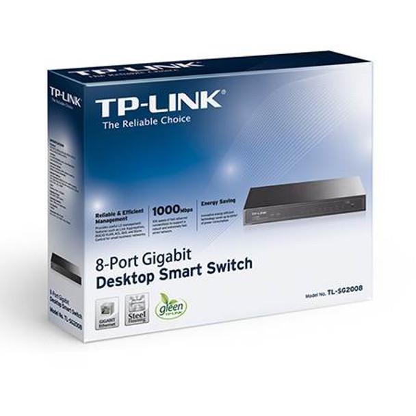 TP-Link TL-SG2008 8-Port Gigabit Smart Switch Product Image 4