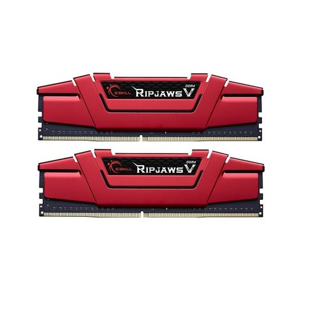 Product image for G.Skill 8GB DDR4-2400 Dual Channel Ripjaws V Blazing Red | AusPCMarket Australia
