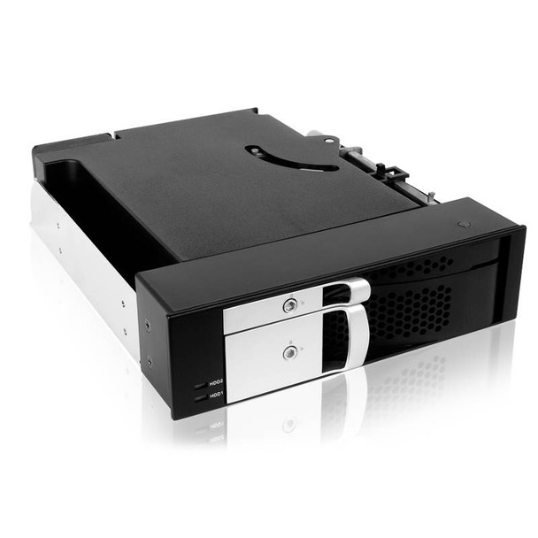 Product image for ICY BOX IB-172SK-B 5.25in bay Trayless Module for 1x 2.5in and 1x 3.5in SATA HDDs | AusPCMarket Australia
