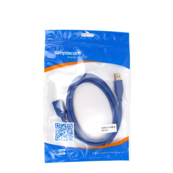 Product image for Simplcom CA315 1.5M 4FT USB 3.0 SuperSpeed Extension Cable Insulation   AusPCMarket Australia
