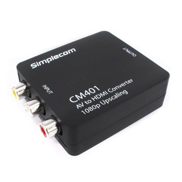 Simplecom CM401 Composite AV CVBS 3RCA to HDMI Video Converter Product Image 2