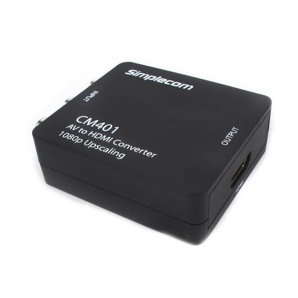 Simplecom CM401 Composite AV CVBS 3RCA to HDMI Video Converter Product Image 3
