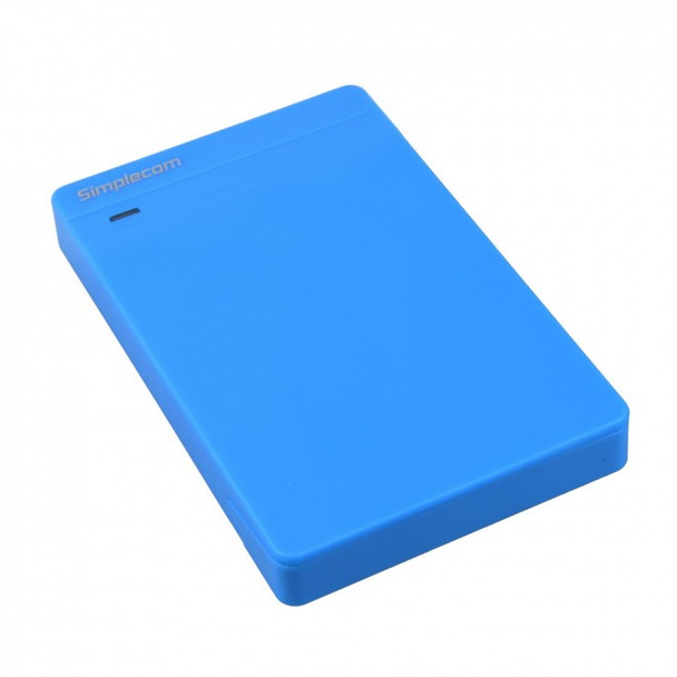 Product image for Simplecom SE203 Tool Free 2.5in SATA HDD SSD to USB 3.0 Drive Box Blue   AusPCMarket Australia