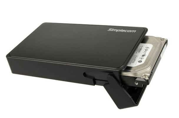 Product image for Simplecom SE325 Tool Free 3.5in SATA HDD to USB 3.0 Drive Box Black | AusPCMarket Australia