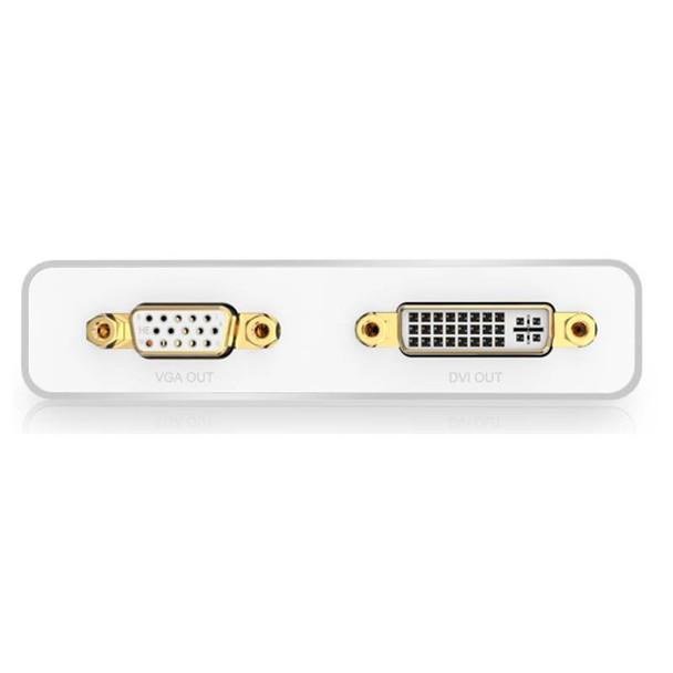 Adapter 3-in-1 Mini DisplayPort to HDMI&VGA&DVI--white Product Image 4