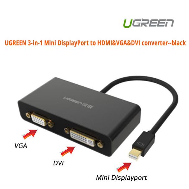 Product image for Adapter 3-in-1 Mini DisplayPort to HDMI&VGA&DVI--black | AusPCMarket Australia