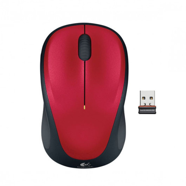 Product image for Logitech Mouse M235 Wireless nano Unifying receiver - Red | AusPCMarket Australia
