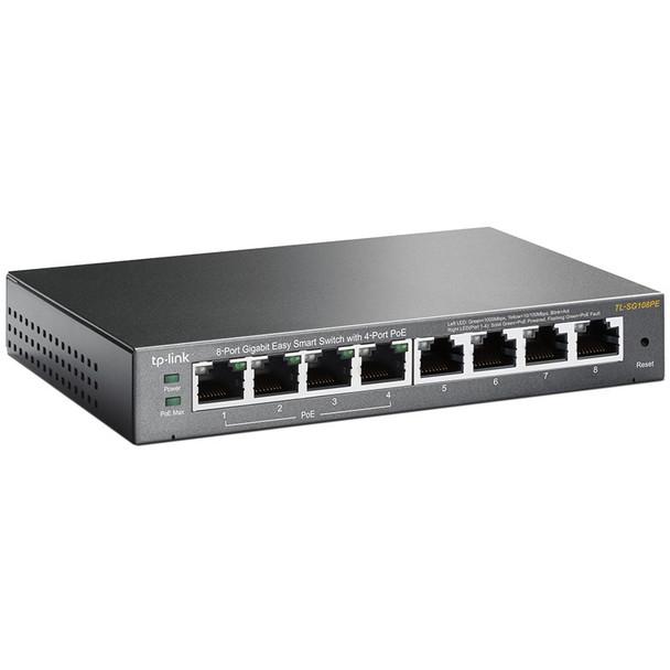 TP-Link TL-SG108PE 8-Port Gigabit Easy Smart Switch with 4-Port PoE Product Image 2