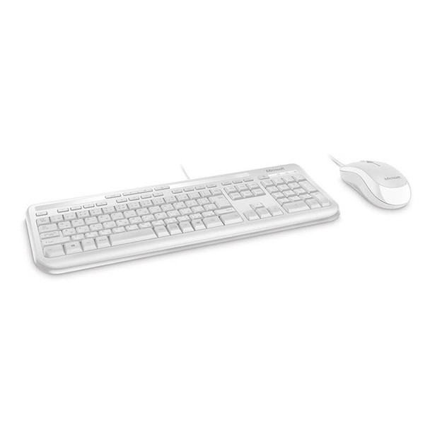 Microsoft Wired Desktop 600 Series USB Keyboard and Mouse Combo - White Product Image 2