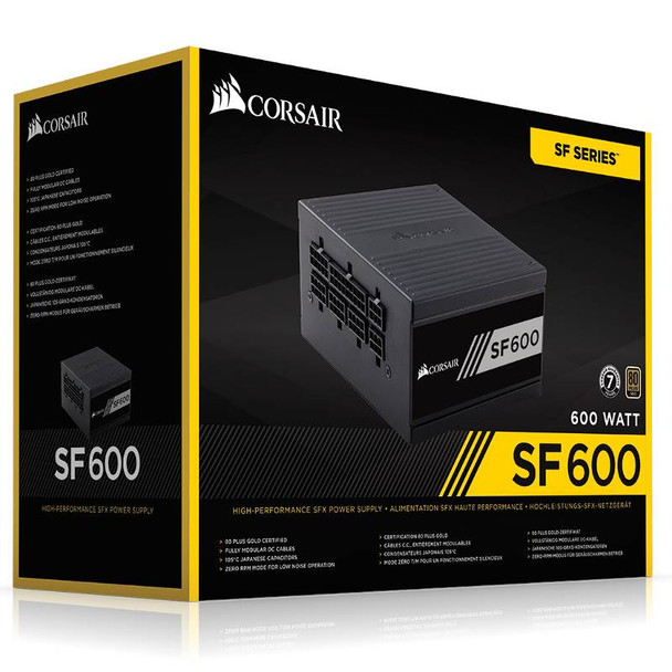 Corsair SF600 Gold 600W SFX Power Supply Product Image 7