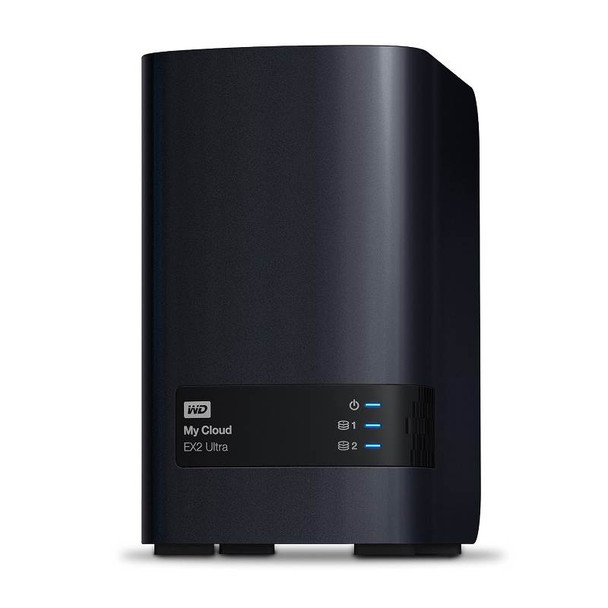 Product image for Western Digital WD My Cloud EX2 Ultra 2-Bay 4TB Hotswap NAS 1.3GHz Dual-Core 1GB RAM   AusPCMarket Australia