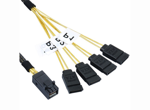 Product image for 1M Internal Mini SAS HD to 4xSATA Cable   AusPCMarket Australia