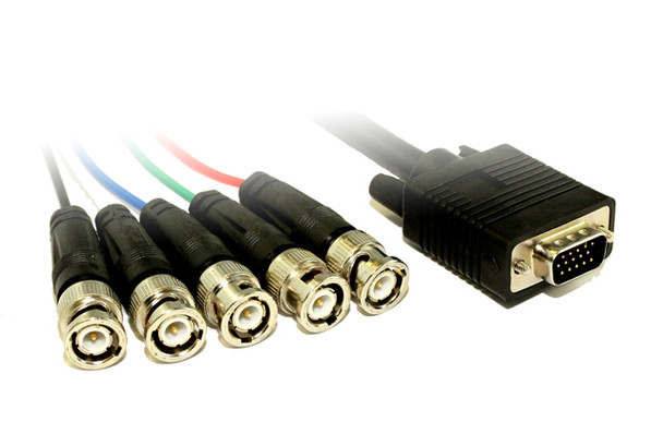Product image for 1M VGA HD15M to 5 x BNC M Cable | AusPCMarket Australia